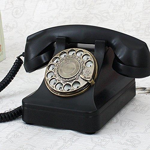 Retro Telephone Vintage Telephone Landline Telephone, Rotary Dial Antique Retro Telephone Landline, Black Red (Color : Black) (Wall Mount Rotary Dial Phone)