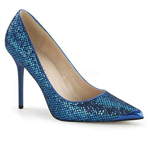 Chaussures Navy Classique Blue Talons Pleaser 20 Femme Fabric Glittery à Lame fnEwqYq1