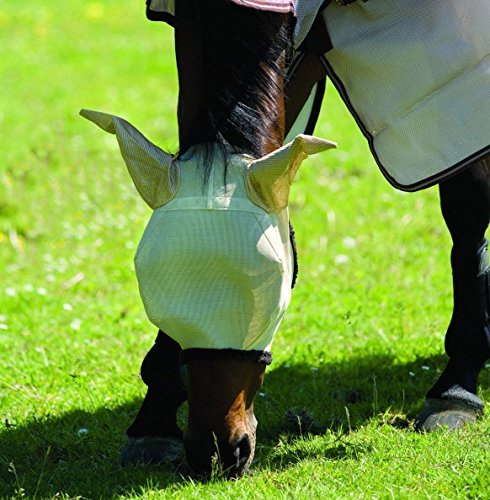 Horseware Amigo Fly Mask with Ears Cob Oatmeal/Bro
