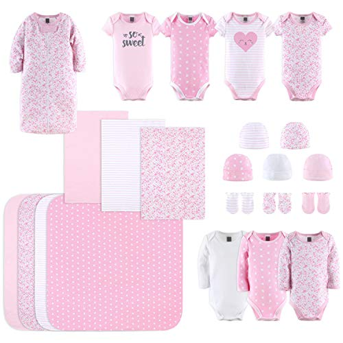 The Peanutshell Newborn Layette Gift Set for Baby Girls | 23 Piece Newborn Girl Clothes & Accessories Set | Fits Newborn…