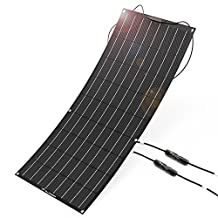ALLPOWERS 100W 18V 12V Flexible Solar Panel Charger( with ETFE Layer, MC4 connectors) Semi Bendable Water-resistant Solar Charger for RV, Boat, Cabin, Tent, Car, Trailer, Other Off Grid Applications