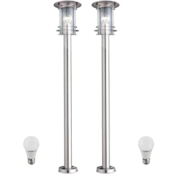2 X Lampadaire Del 7 Watts Luminaire Sur Pied Lampe Led Espace