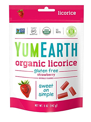 YumEarth Organic Gluten Free Licorice, Strawberry, 5 Ounce (Pack of 12)
