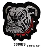 Bulldog Angry Dog Embroidery Iron On or Sew On Applique Patch #3388BS