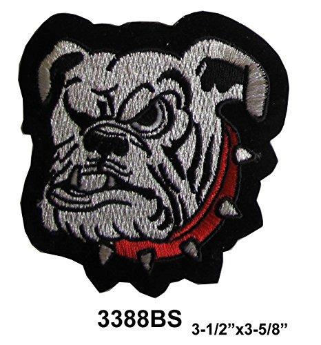 Bulldog Angry Dog Embroidery Iron On or Sew On Applique Patch #3388BS by ade_patch