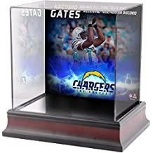 Antonio Gates Los Angeles Chargers Deluxe Mini Helmet Case Commemorating All-Time Career Touchdowns For a Tight-End Record - Fanatics Authentic Certified