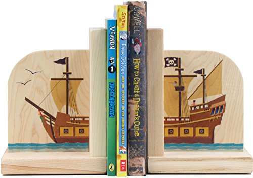 (Pirate Ship Bookends - Made in USA)