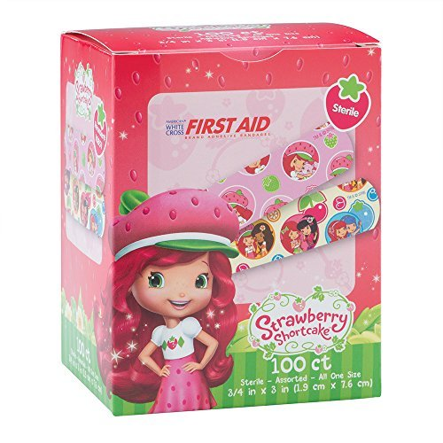 Strawberry Shortcake Bandages - First Aid Supplies - 100 per Pack (Strawberry Pack Face)