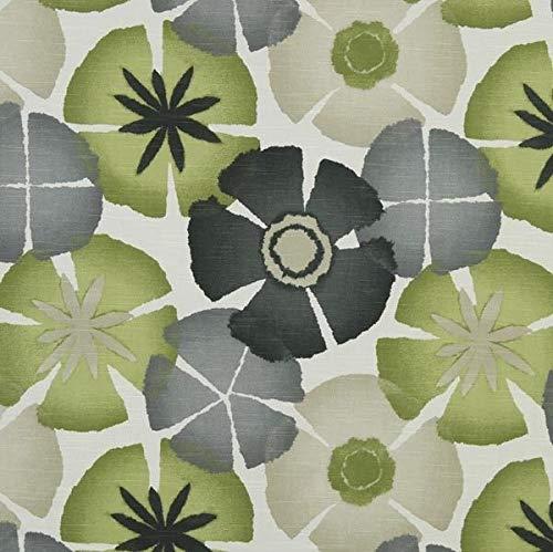 Yard Discount Fabric Robert Allen Upholstery Drapery Pure Petals Greystone EE25