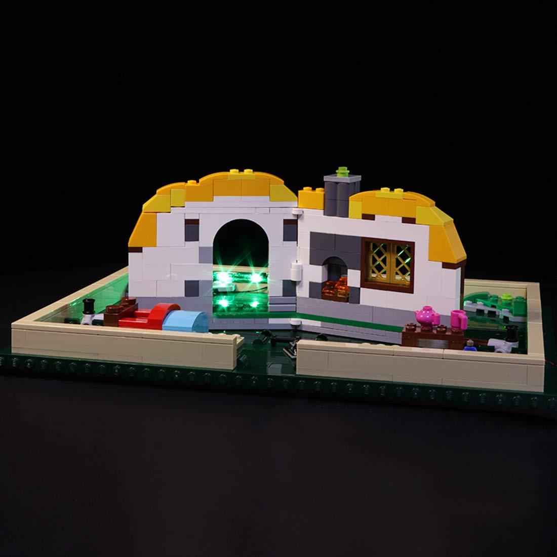 Poxl LED Beleuchtung Für Pop-Up-Buch LED Light LED Licht Kit Kompatibel Mit Lego 21315 - Lego Modell Nicht Enthalten