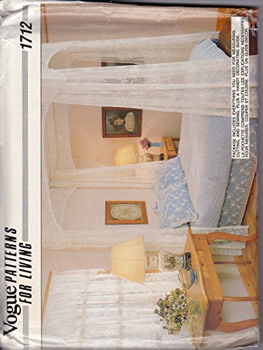 (Vintage Vogue 1712 Patterns for Living American Bedroom Bouquet & Lace Coutry Canopy)