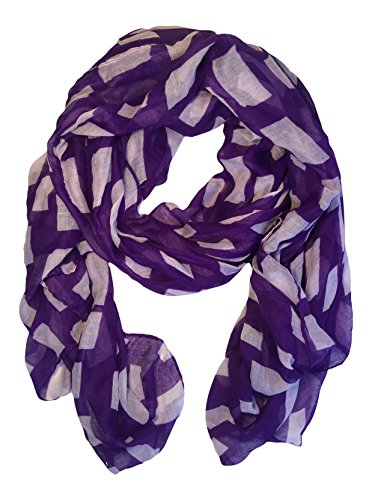 State Classic Collection - Classic State Pride Scarf in College and University Colors (Kansas Purple/White)