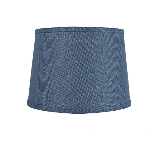 Urbanest French Drum Burlap Lampshade, 12-inch by 14-inch by