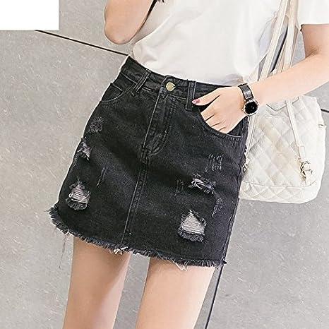XiaoGao Black PU leather skirt