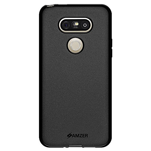 Price comparison product image AMZER Pudding Soft Gel TPU Skin Fit Case Cover for LG G5, Titan VS987 - Retail Packaging - Black