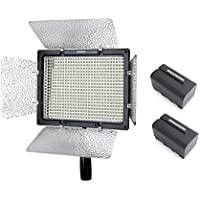 Yongnuo YN-600L II YN600L II Pro LED Video Light 5500K Color Temperature for Canon Nikon DSLR Camera DV and Camcorder with 2PCS WINGONEER NP-F770 Battery and Battery Charger