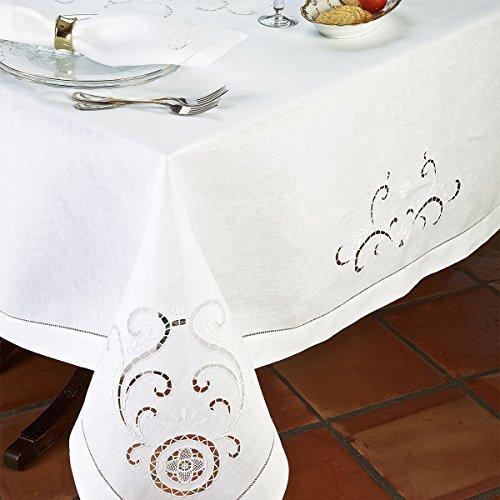 Pisa Napkins, White (1 Dozen) by Schweitzer Linen