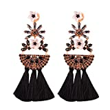Best iVan Friend Bracelets For Kids - Drop Tassel Earrings For Women Long Dangle Earring Review