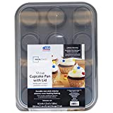 Mainstays Non-Stick Cupcake Pan with Lid