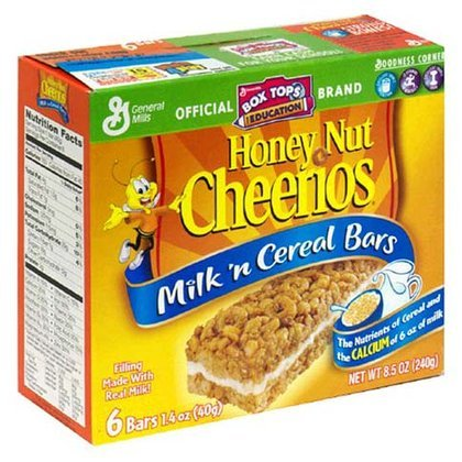 General Milk 'n Cereal Bars Honey Nut Cheerios 8.5 OZ (Pack of 20) by General Mills