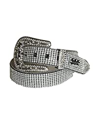 XXLarge Super Show Leather Crystal Bling Belt