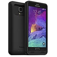 PowerBear Note 4 Battery Case [4,500 mAh] High Capacity External Battery Charger for Samsung Galaxy Note 4 (Up to 140% Extra Battery) – Black [24 Month Warranty & Screen Protector Included]