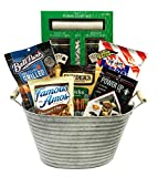 Poker Man Gift Basket - Gifts for Men - Poker Night Snack Gift Filled with Poker Set, Chips, Jerky, Nuts - Perfect for any Man - Birthdays - Congratulations- Get Well (Snack Gift - Poker Night!)