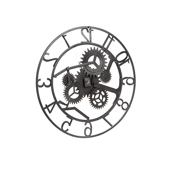 Cape Craftsmen Industrial Gears Metal Wall Clock 4