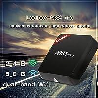 Versión Pura] Leelbox M8S Pro Android TV Box Smart TV Box 64 bits con Android 6.0 2G/8G Dual Band 2.4g/5g WiFi: Amazon.es: Electrónica