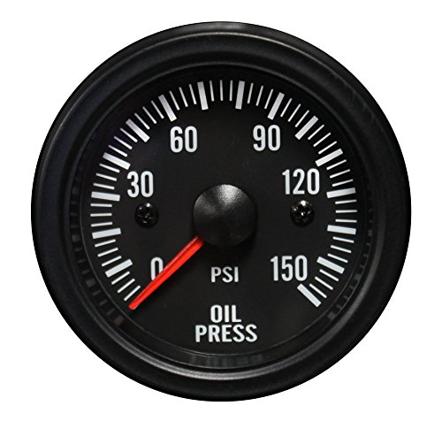 Oil Pressure Gauge- Waterproof Electrical White LED Performance Series 52mm (2 1/16) - Electric Pressure Gauge