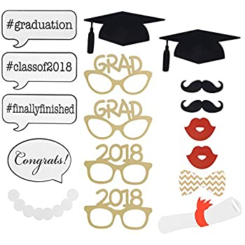 Graduation Photo Props Graduation Phtoto Booth Props Oulii 2018 Graduation Party Decorations Pack Of 17 3