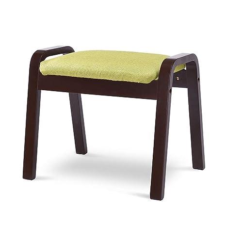 Amazon.com: STAR-LIFE - Taburete de madera maciza para salón ...