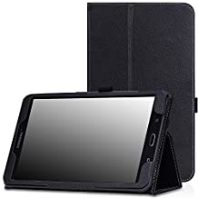 MoKo Samsung Galaxy Tab E 8.0 Case - Slim Folding Cover Case for Samsung Galaxy Tab E 8.0 Inch SM-T377 4G LTE Verizon / Sprint Tablet, BLACK