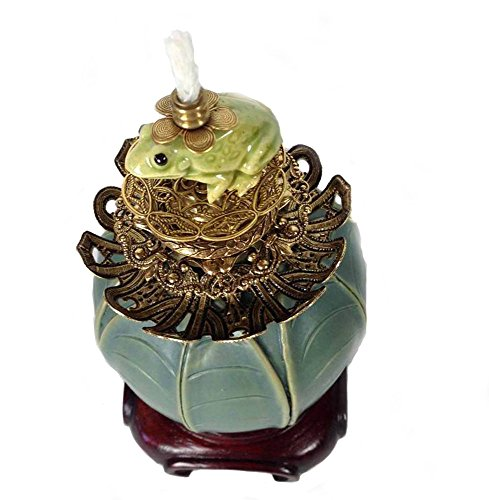 Connie Sicotte Frog on Lily PAD Fragrance OIL Lamp
