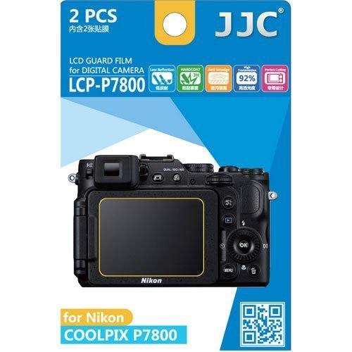 Polycarbonate Lcd - JJC LCP-P7800 ultra hard polycarbonate LCD Film Screen Protector For NIKON P7800 (2 Kits)