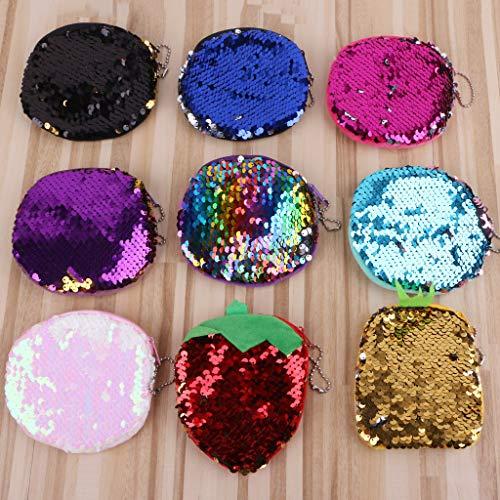 Frutta Due Modello 5 Tasca Fashion Sacco 8 Colori In Monete Di Paillette Soldi Lady Portamonete qUUBAXS