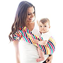 HOTSLINGS Adjustable Pouch Baby Carrier Sling, Large, Multi-Color