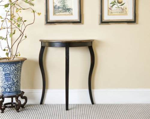 Safavieh American Homes Collection Filton Rustic Black and Walnut Side Table