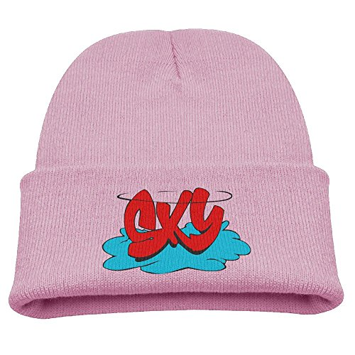 Price comparison product image Aizhouqug Sky Graffiti Children's Winter Knitting Warm Hat Daily Slouchy Hats Beanie Skull Cap Knit Cap Pink