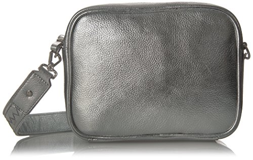 The Fix Talia L Leather Cb Bag Braided Strap, silver