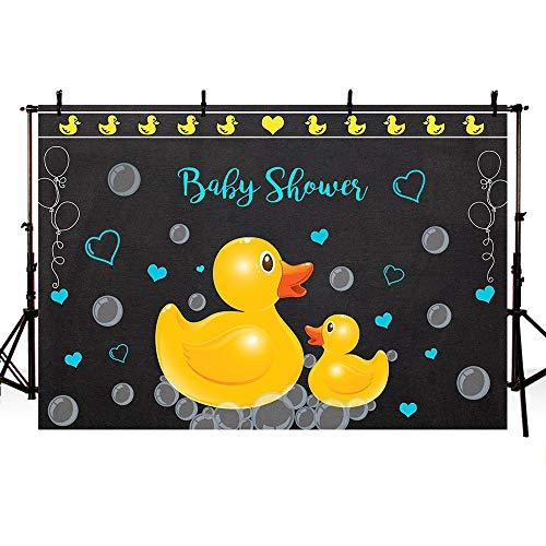 MEHOFOTO Little Yellow Rubber Duck Baby Shower Bubble
