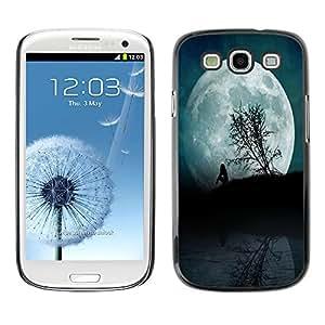 - Moon Night - - Monedero pared Design Premium cuero del tir¨®n magn¨¦tico delgado del caso de la cubierta pata de ca FOR Samsung Galaxy S3 I9300 I9308 I737 Funny House