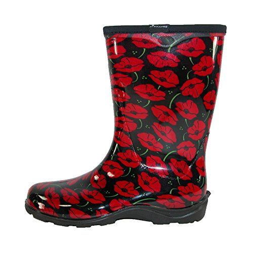 Sloggers Women's Waterproof Rain and Garden Boot with Comfort Insole, Poppy Red, Size 10, Style 5016POR10 by Sloggers (Image #2)