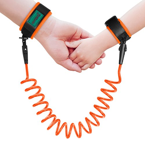 Brillante Anti-Lost Wrist Link Child Safety Wristband Harness Strap Rope Leash for Toddlers, Babies, Kids, 1.5M (Orange)