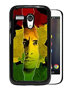 AZE Beautiful Fashion Bob Marley Black Case Cover For Moto G