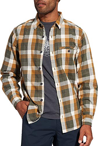 - Alpine Design Men's 1962 Vintage Flannel Long Sleeve Shirt (S, Medal Bronze Multicheck)
