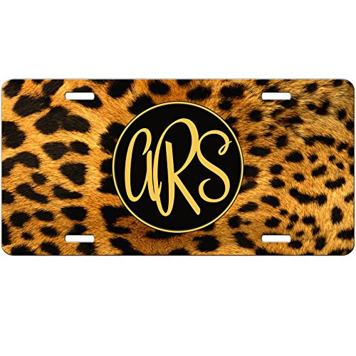 Personalized Leopard - Simply Customized Personalized License Plate Monogram Cheetah Leopard Print Animal License Plate Car Auto Tag Aluminum PLP
