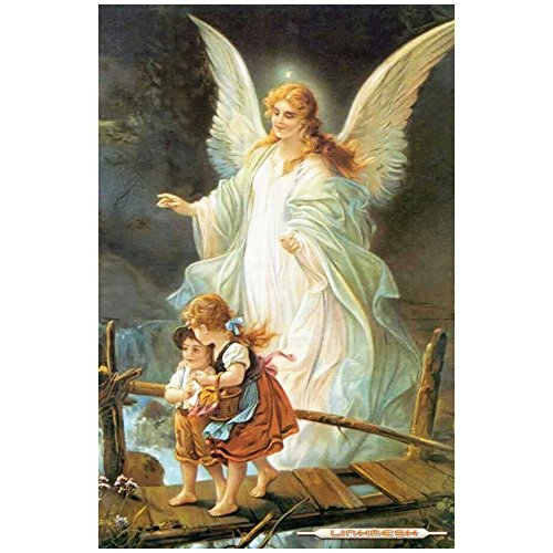 Whitelotous Guardian Angel 5D Diamond Embroidery Painting DIY Cross Stitch Kit Home Decor 20 x 26 Inch