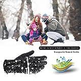 Langwolf Winter Running Gloves for Men Women Unisex Outdoor Sports Cycling Driving Windproof Warm Touchscreen Gloves