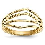 14k Gold Polished 4-Bar Ring